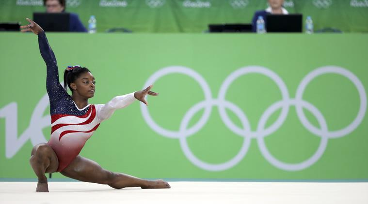 2016 Rio Olympics - Artistic Gymnastics - Final - Women's Team Final - Rio Olympic Arena - Rio de Janeiro, Brazil - 09/08/2016. Simone Biles (USA) of the U.S. competes on the floor exercise. REUTERS/Damir Sagolj FOR EDITORIAL USE ONLY. NOT FOR SALE FOR MARKETING OR ADVERTISING CAMPAIGNS.